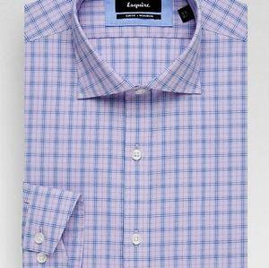 Esquire Lavender Check Slim Fit Dress Shirt